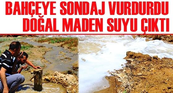 Sondajda çıkan su sondajcıyı ve vatandaşı zor durma sokan durum
